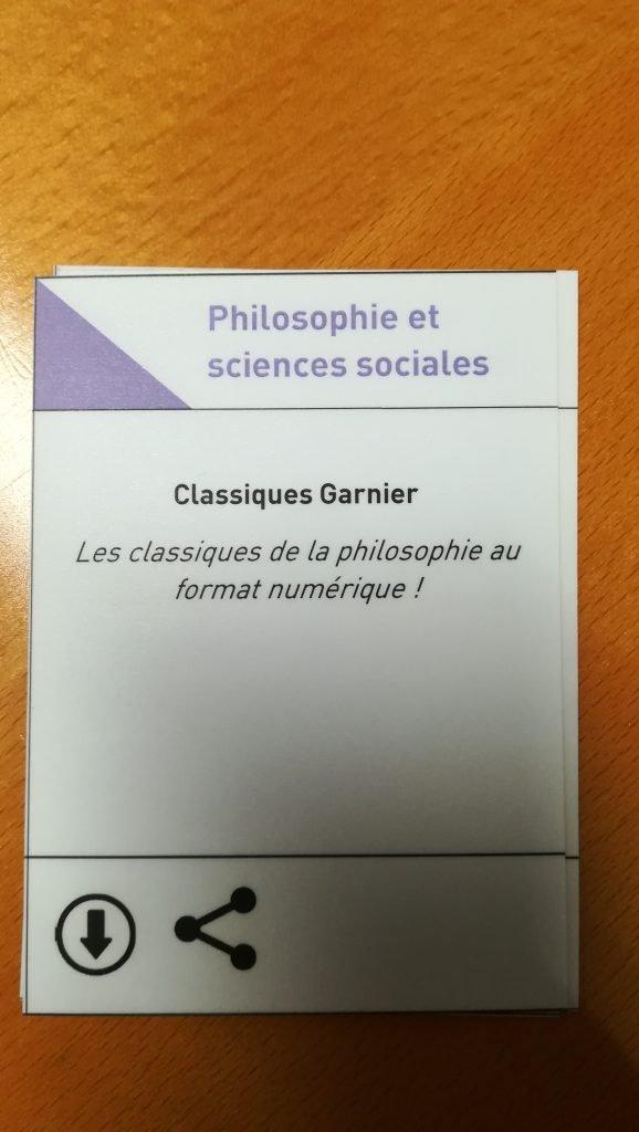 Carte de jeu Classique Garnier