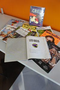 photographie des revues présentées dans le cadre de l'action