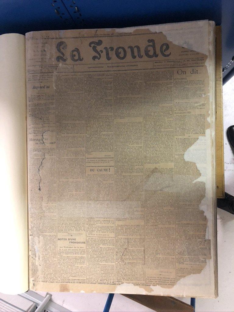 Premier numéro du journal La Fronde
