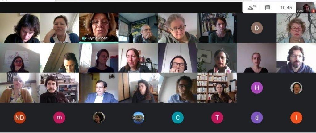 Capture d'écran de la réunion en visio du conseil de coopération le 26 mars 2021