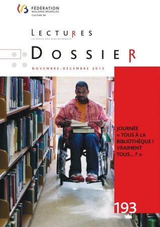Couverture du dossier du Colloque 2015 accessibilité de la revue « Lectures »
