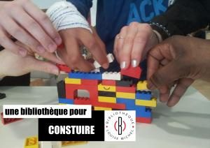 """Affiche """"Bibliothèques pour construiree"""""""