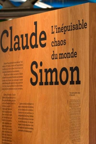 Image exposition Claude Simon
