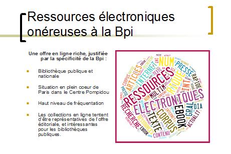 Ressources électroniques onéreuses