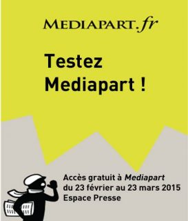 Affiche Médiapart utilisée pendant le test