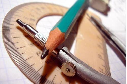 Visuel crayon et rapporteur