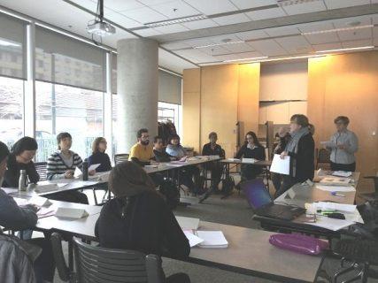 Atelier de conversation francaise, à la Bpi et aux archives nationales du Québec