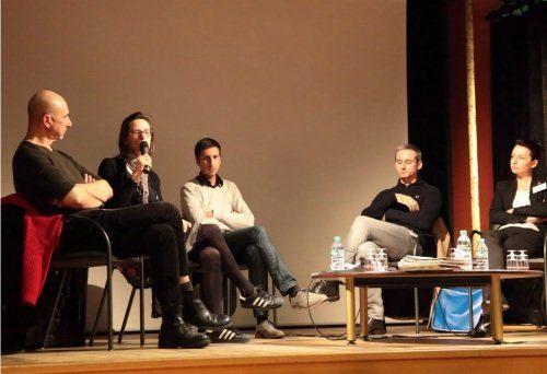 Pascal Desfarges, Marion Loire, Thibault Christophe, Nicolas Beudon, Claire Hannecart (photo : Arsène Ott pour l'ACIM)