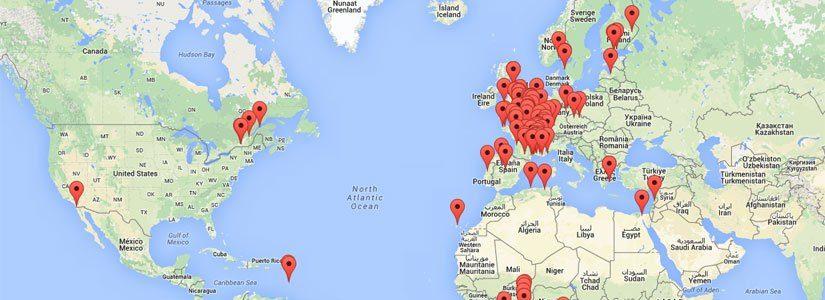 Carte du monde ABF