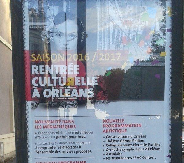 Affiche municipale annonçant la mise en place de la gratuité à Orléans