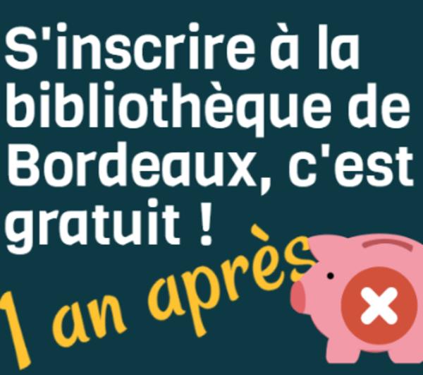 Extrait de l'infographie sur la gratuité à Bordeaux