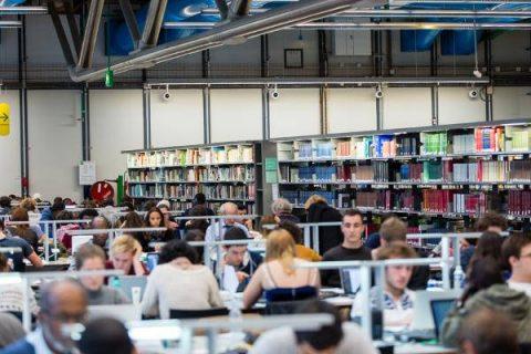 Photo de publics de la bibliothèque.
