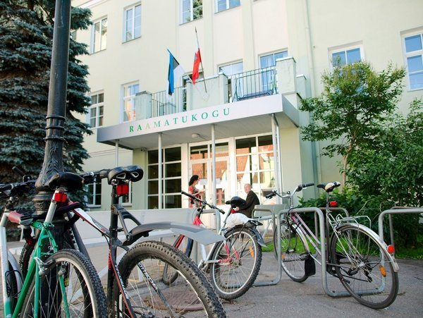 Entrée bibliothèque de Tartu