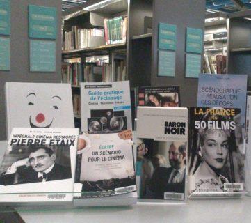 Photo d'une valorisation sur les collections relatives au cinéma à la Bpi