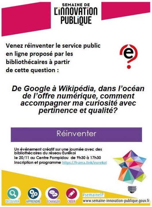 Flyer annonçant l'atelier Eurêkoi remix
