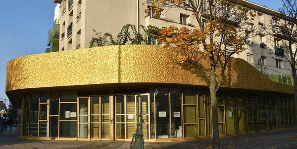 Photographie de la bibliothèque Assia Djebar -côté entrée