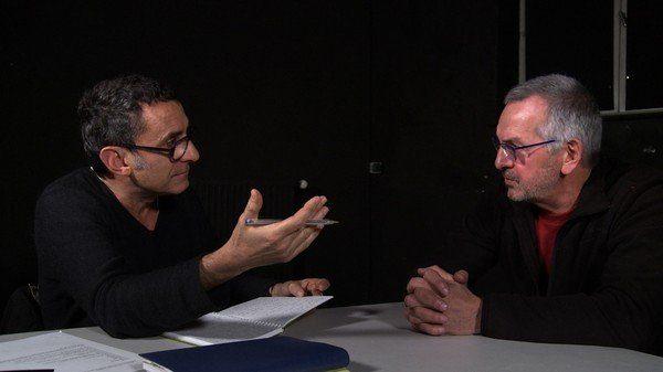 Didier Ruiz  et un ancien détenu - photo du film Après L'ombre
