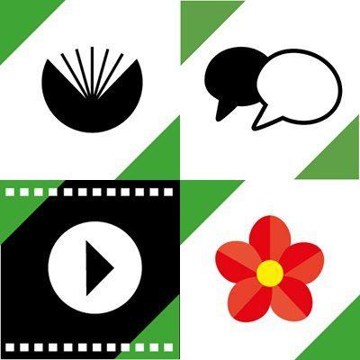 images de profil des identités thématiques de la Bpi