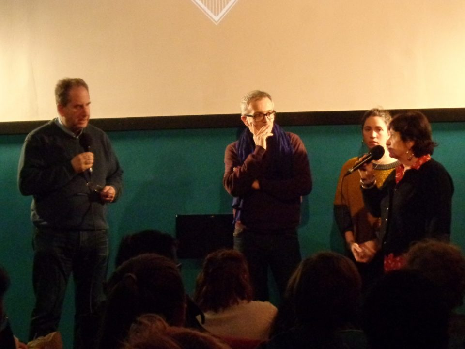 Photo: de ga. à dr.: Jacques Gerstenkorn (dir.), Alexandre Bonche, Roxane Riou, Anna Glogowski