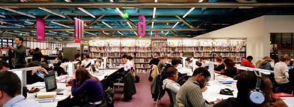 Publics étudiant dans la Bpi