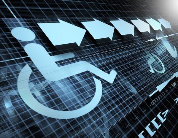 image d'écran d'un picto fauteuil roulant