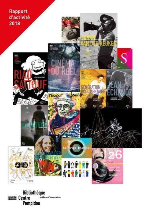 couverture illustrée par les affiches des manifestations de la Bpi