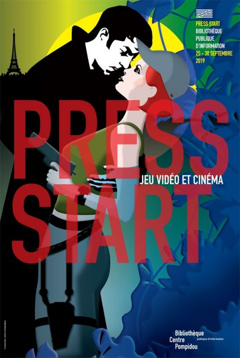 Visuel de l'affiche du festival Press Start 2019