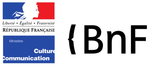 Logos du ministère de la Culture et de la Bibliothèque nationale de France
