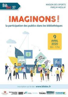 """Affiche de la journée d'étude """"Imaginons ! La participation des publics en bibliothèque"""""""