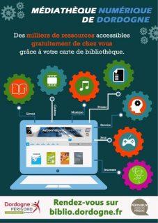 Copie d'écran du portail de la BDP sur les ressources numériques