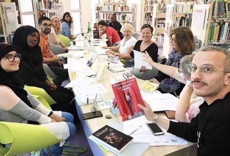 Photographie des participants au club de lecture de Clichy-sous-bois