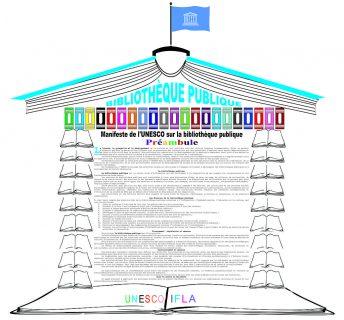 Cette image présente le texte du manifeste de l'Unesco pour les bibliothèques publiques en français
