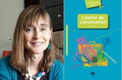 Portrait de Cécile Denier et photographie de la couverture de son ouvrage
