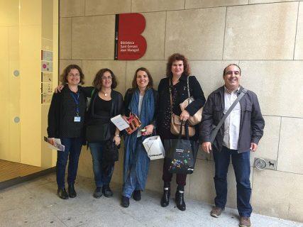Photographie bibliothécaires de Barcelone