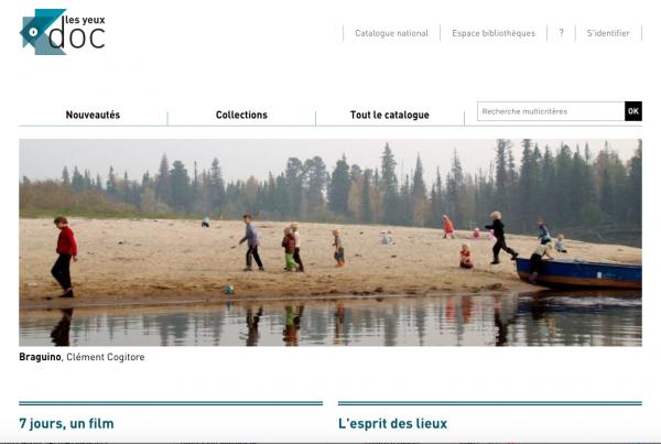 Capture d'écran de la plateforme les Yeux doc