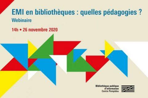 Visuel du webinaire sur l'éducation aux médias et à l'information en bibliothèques : quelles pédagogies