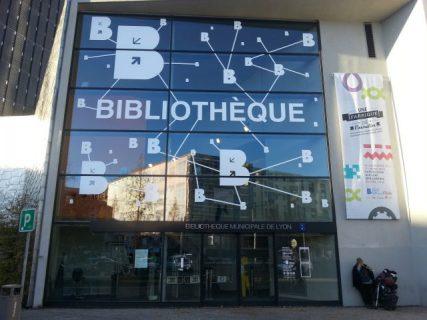 Photographie de la nouvelle entrée de la bibliothèque de Lyon
