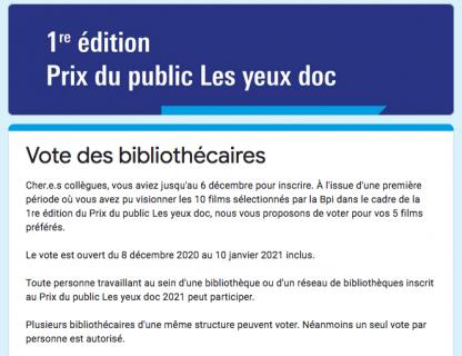 Formulaire de vote des bibliothécaires