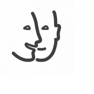 Logo du ministère de la Culture représentant le handicap mental à travers deux visages esquissés