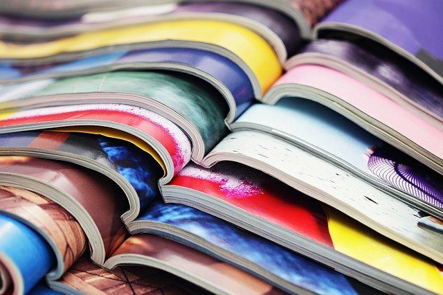 Magazines ouverts