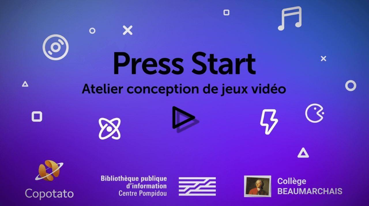 Visuel de l'écran de l'atelier de conception de jeux vidéo