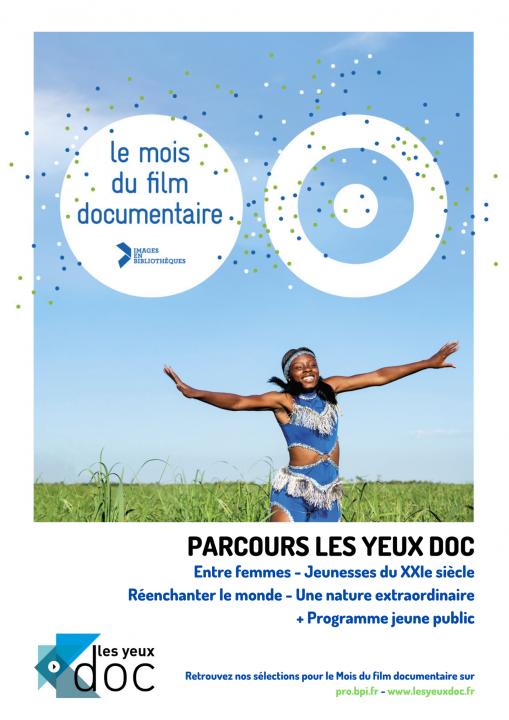 Affiche du Mois du film documentaire Les yeux doc