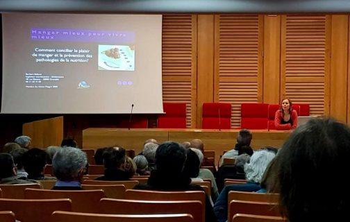 Photographie de la conférence de Barbara Balland à l'Université populaire