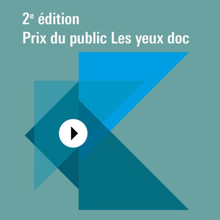Logo de la 2e édition du Prix du public Les yeux doc