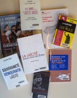 Photographie d'une sélection de nouveaux ouvrages sur la laïcité