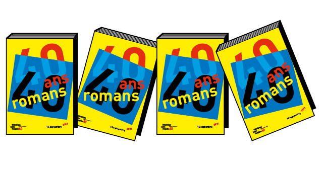 Logo de la manifestation 40 ans / 40 romans